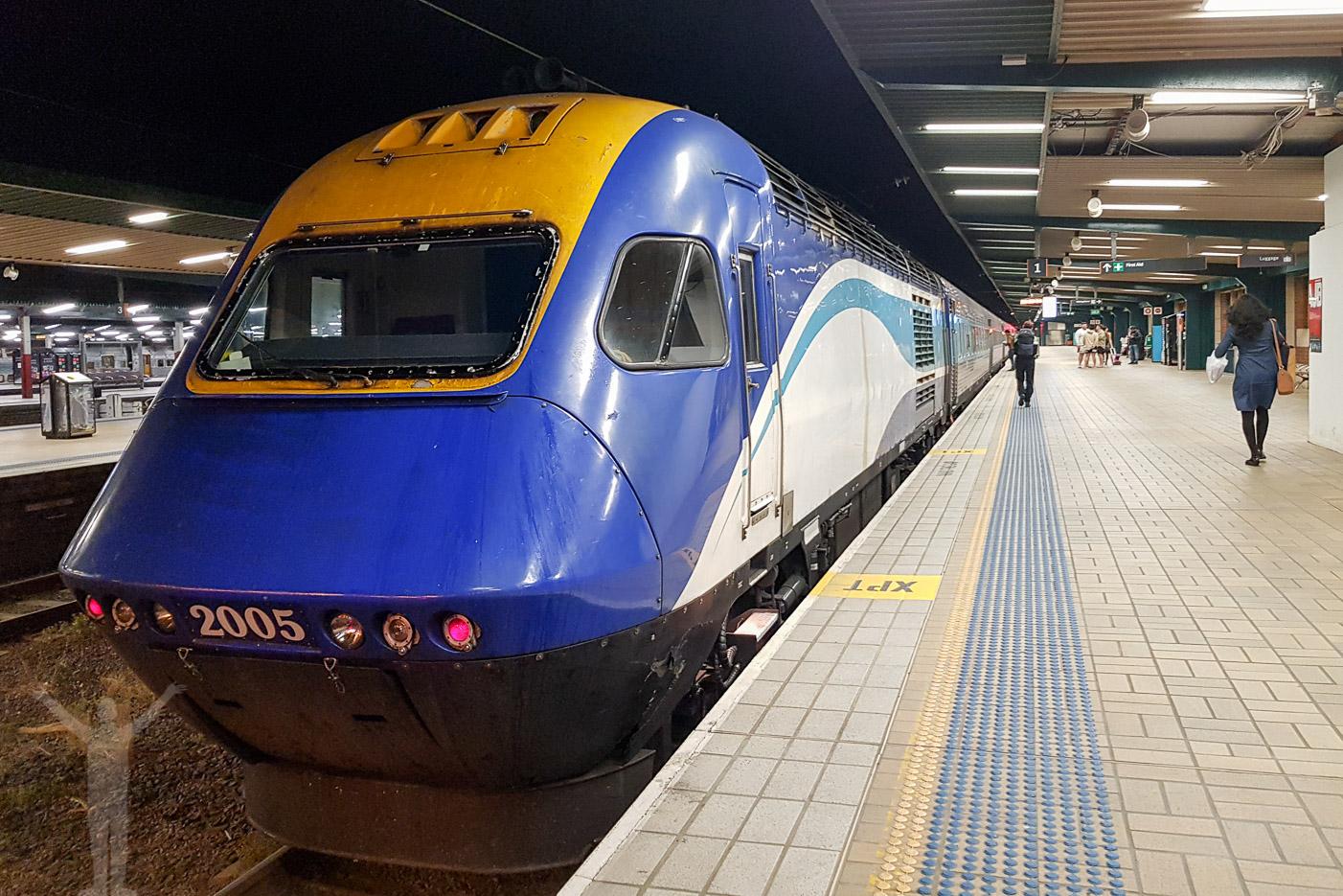 New South Wales XPT rullar som nattåg i Australien