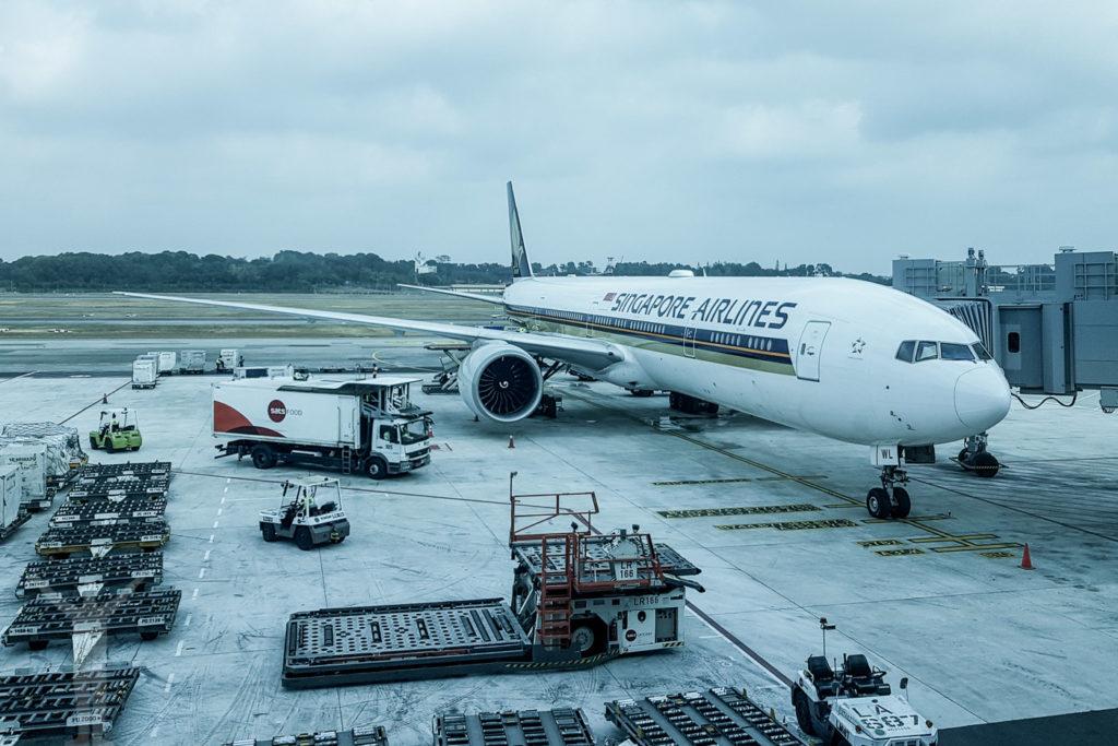 Singapore Airlines B77W på Changi