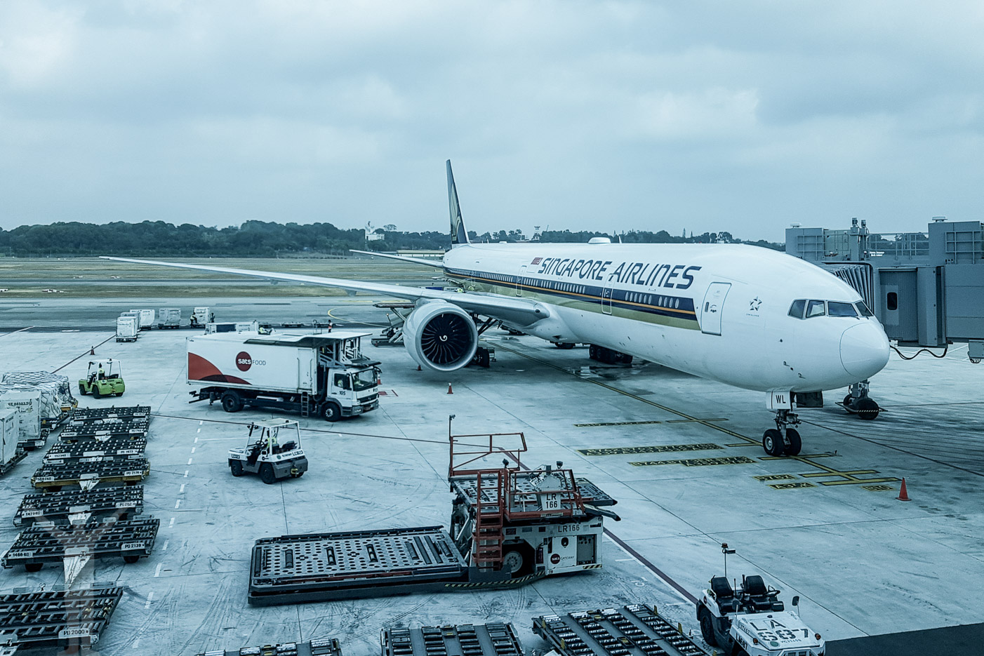 Singapore Airlines B77W på Changi