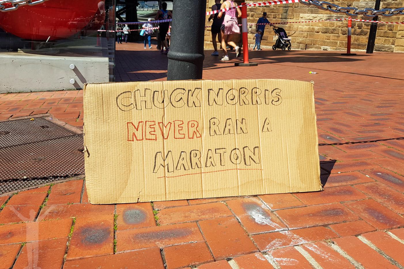 Chuck Norris sprang aldrig ett maratonlopp.