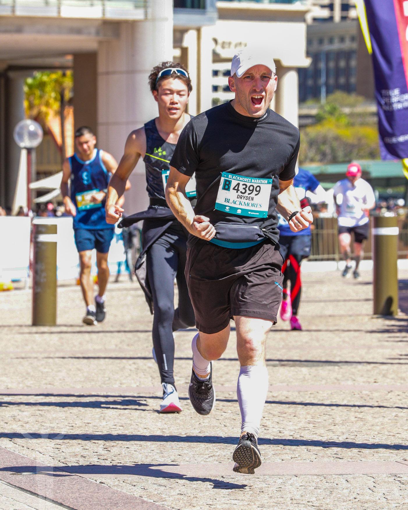 Målgångsvrålet i Sydney Marathon