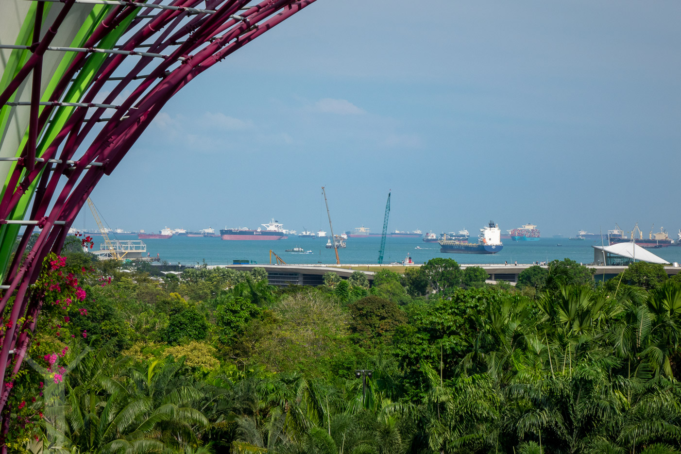 Det är klarare sikt utan haze i Singapore