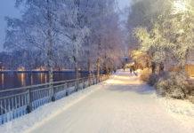 Badhusparken i vinterskrud