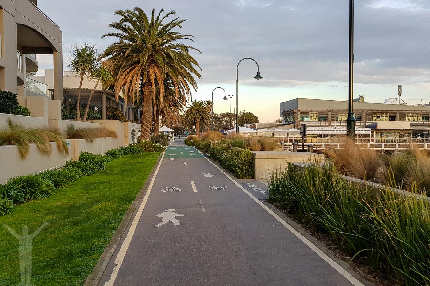 Cykelvägen i Port Melbourne