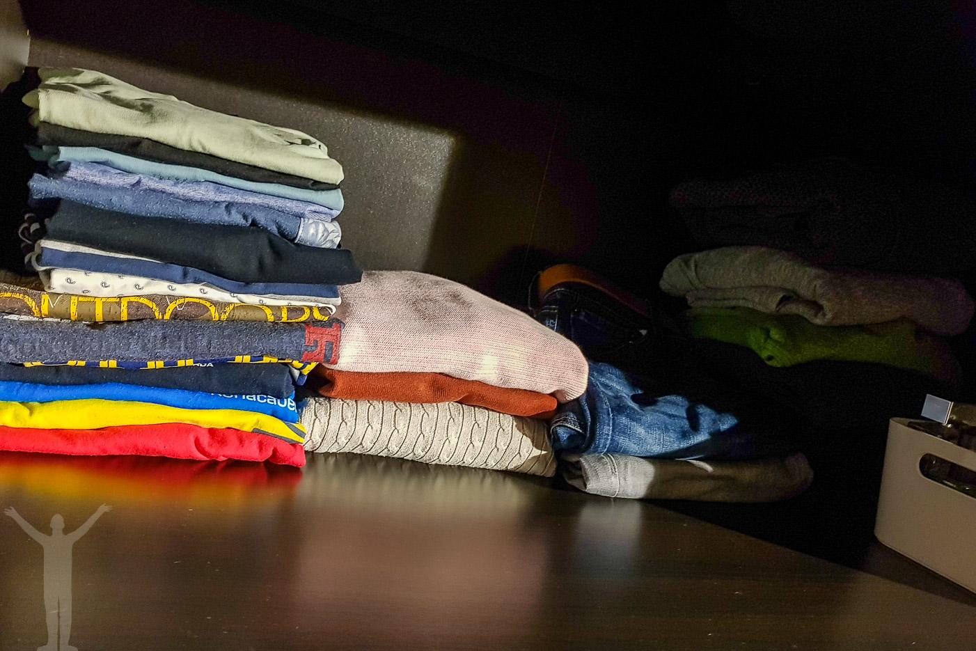 En städad garderob