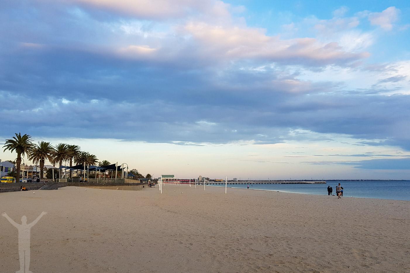 Stranden vid Port Melbourne