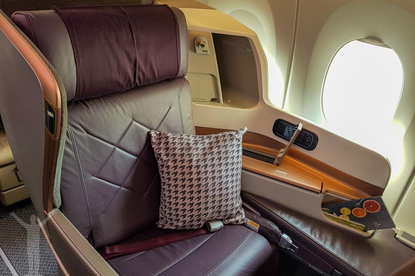 Singapore Airlines businessklass på A350