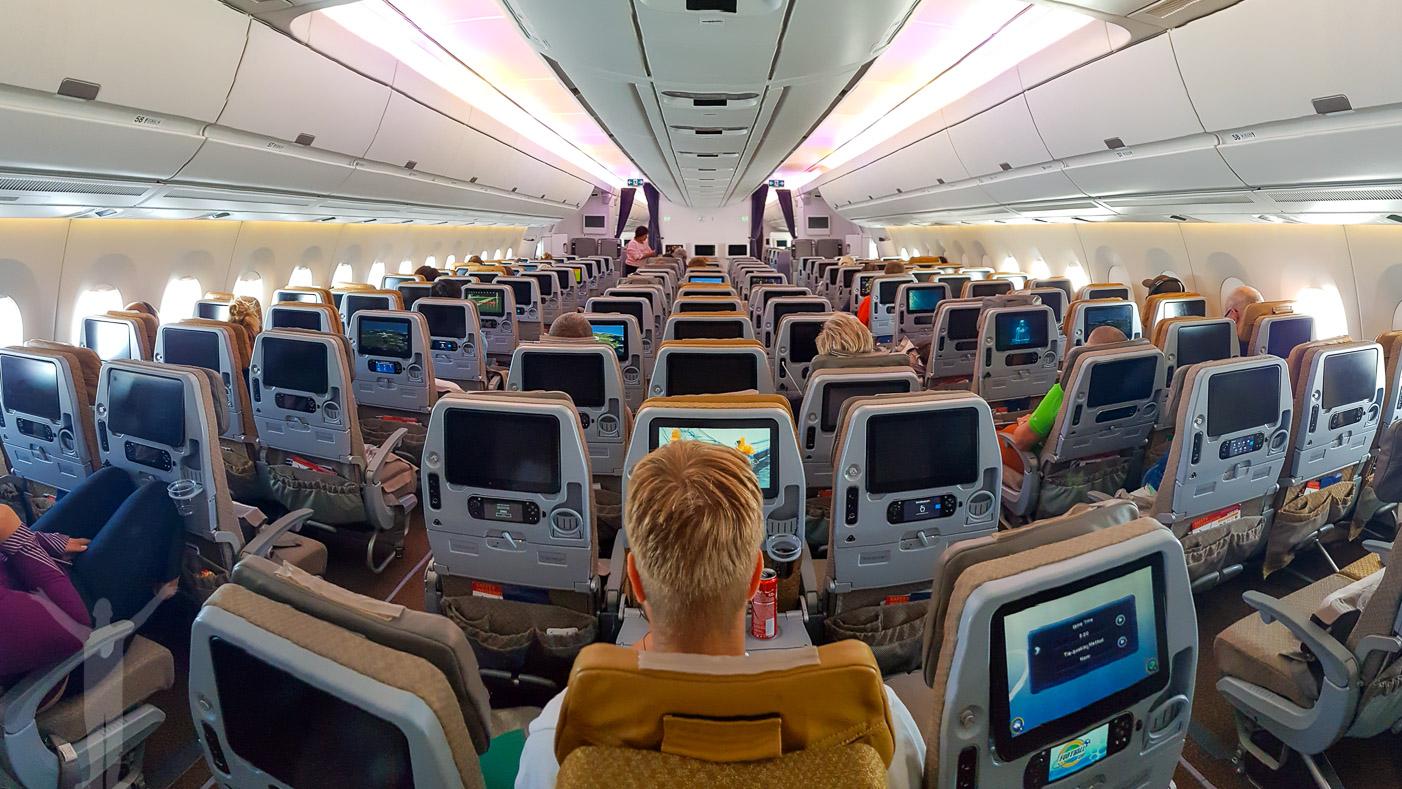 Ekomomiklass på Singapore Airlines A350