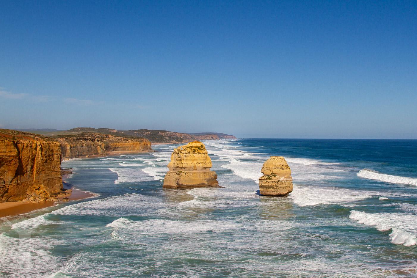 Vackra klippor vid Tolv Apostlarna
