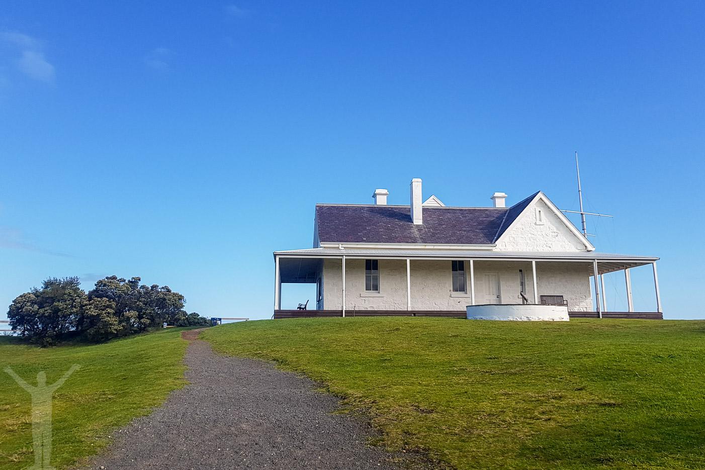 Ett av husen vid Cape Otway
