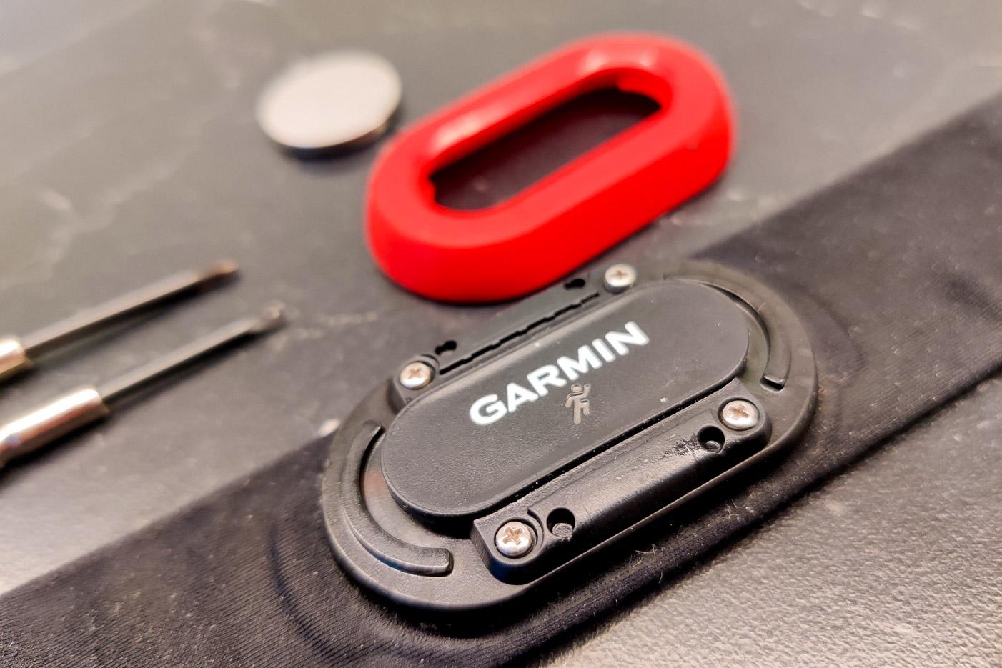 Batteribyte på Garmin HRM Run