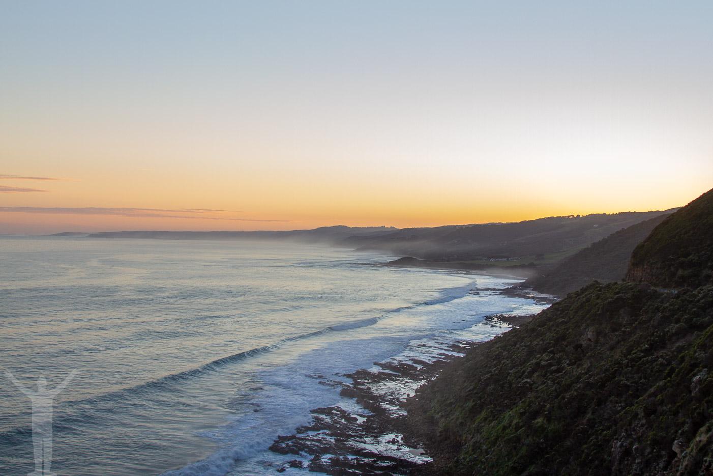 Solnedgång över Australien