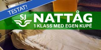 SJ Nattåg 1 klass med egen kupé