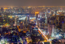 Nattfoto i Bangkok