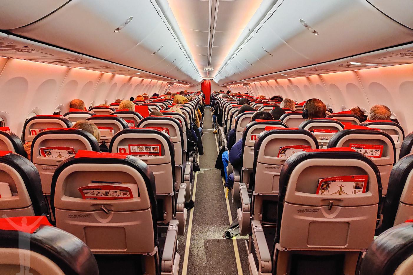 Kabinen på Norwegian 737-800