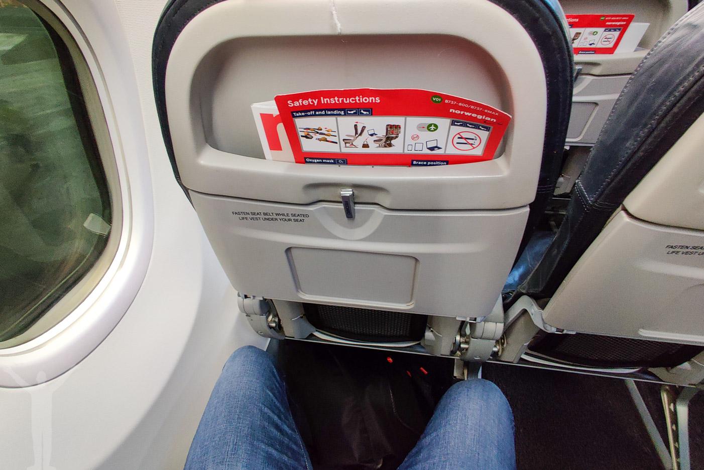Ekonomiklass på Norwegian 737-800