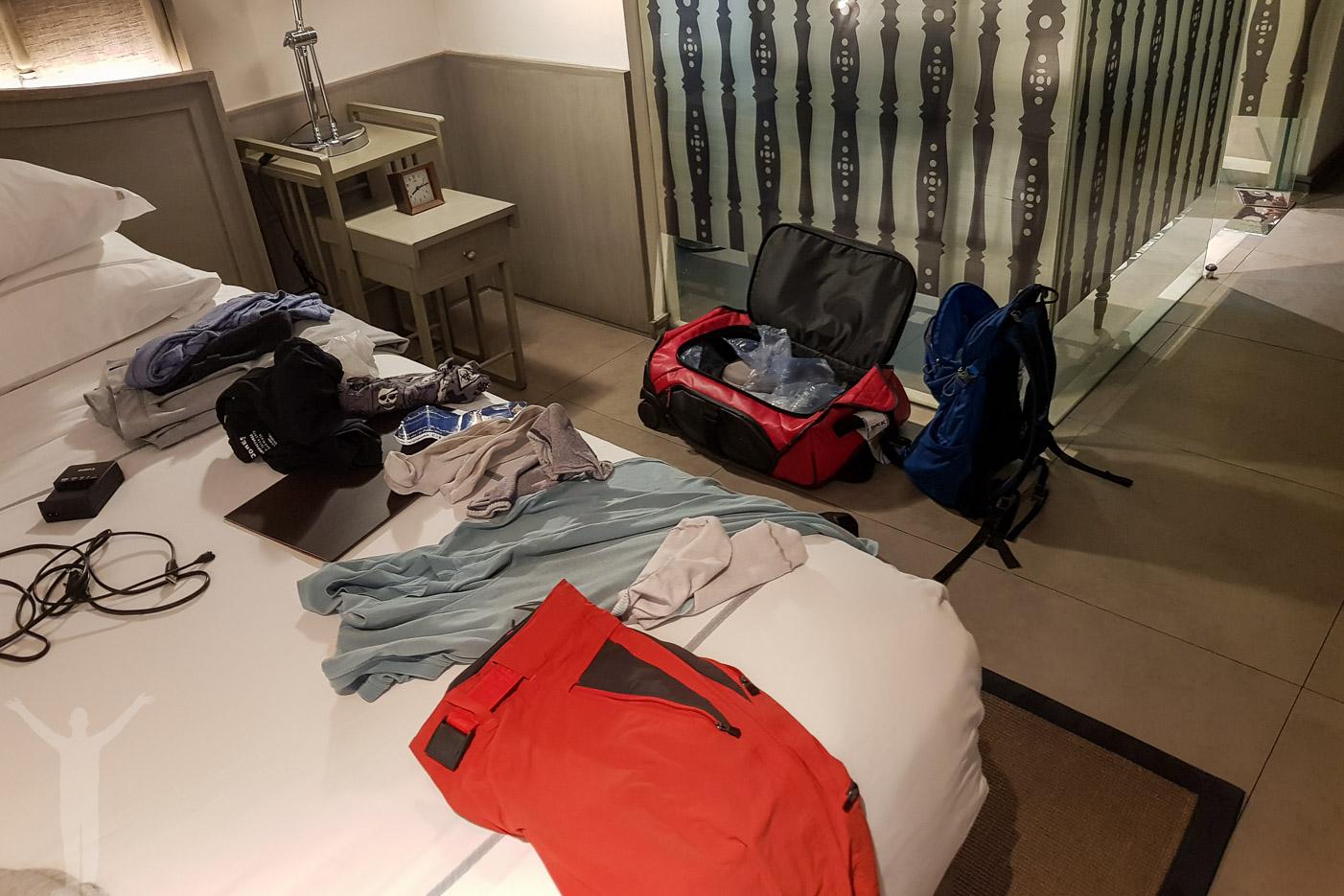 Packa för hemresa