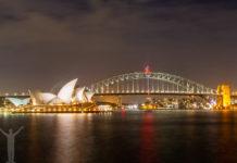 Sydneys operahus och Harbour Bridge