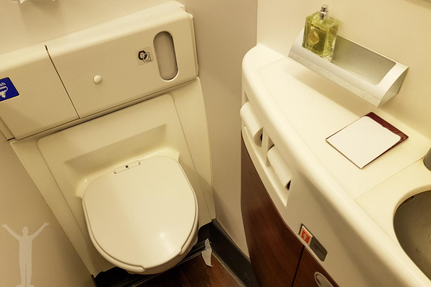 Toaletten på Boeing 777