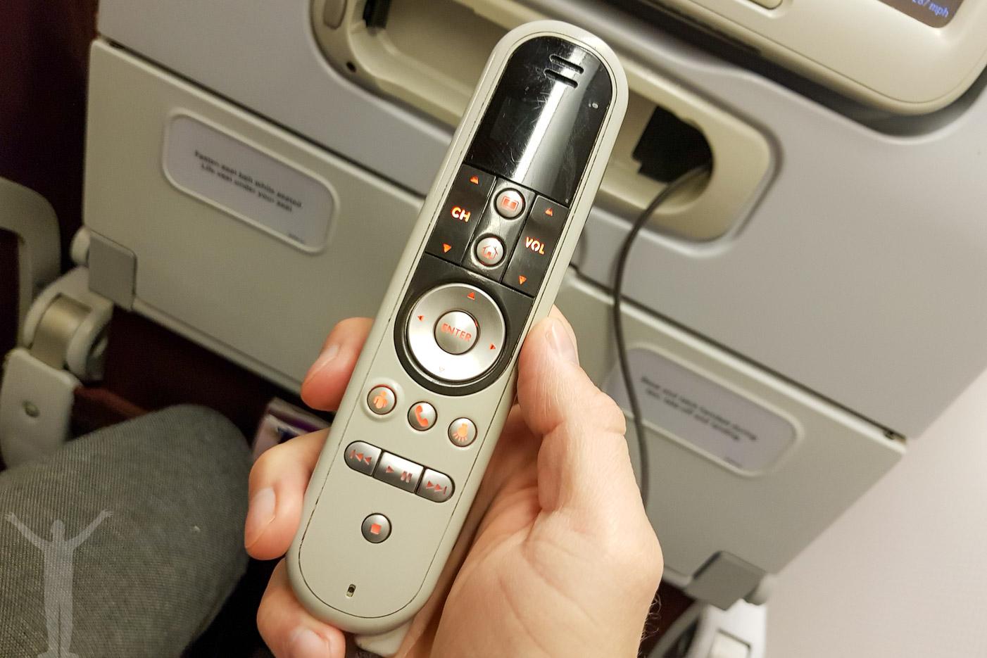 Fjärrkontrollen till IFE:n hos Thai Air