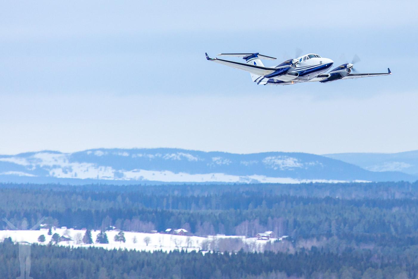 SE-MJH, King Air med EMS (Emergency Medical Service).