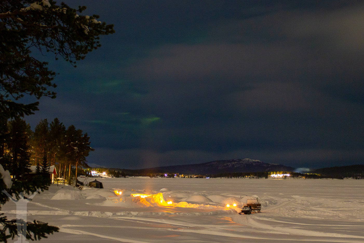 Norrskensspaning på Aurora Camp