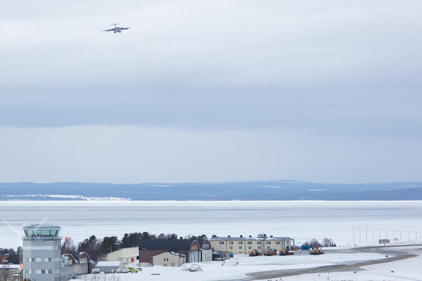 B-17 på väg in för landning