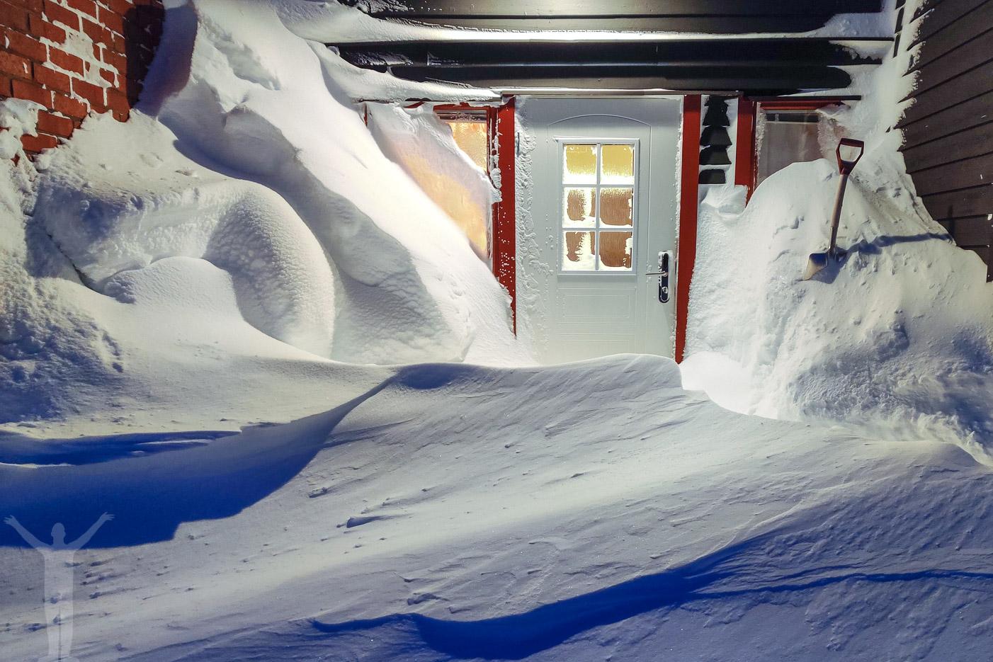 Björkliden och snö