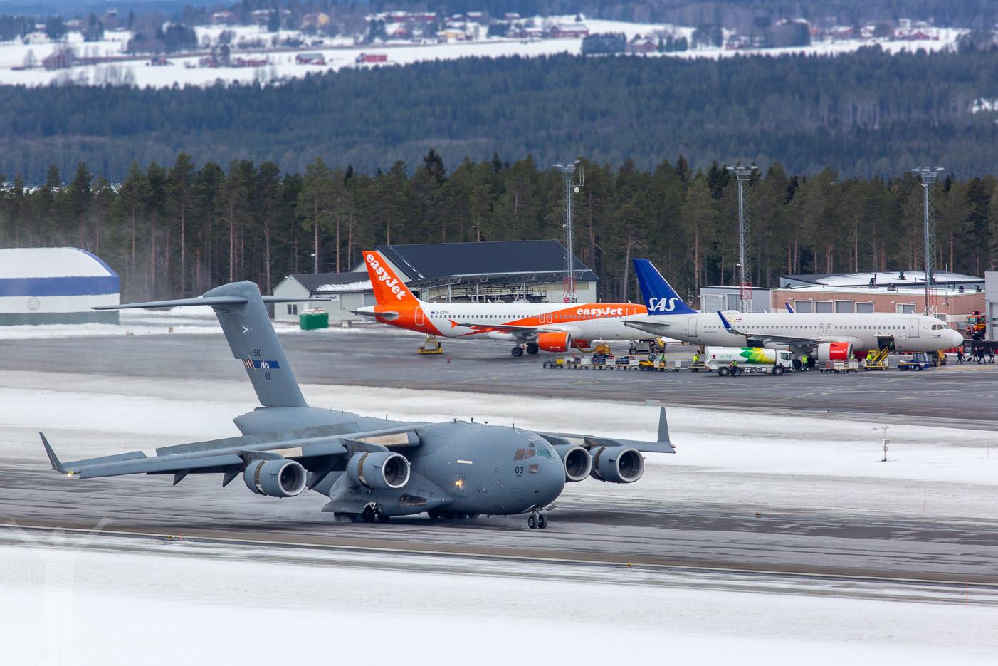 C-17 på Åre Östersund Airport