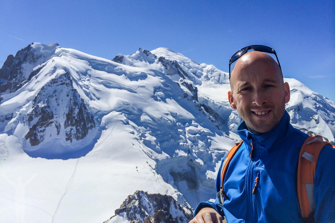 Jag själv framför Mt Blanc