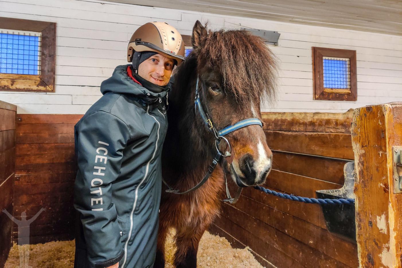 Jag och islandshästen Náttfari frá Melum