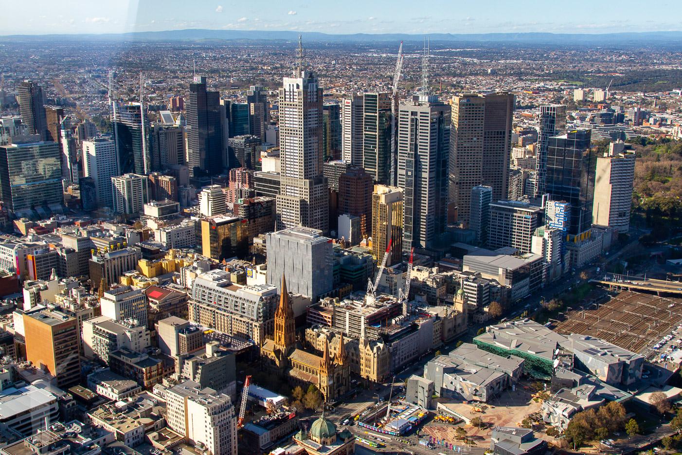 Melbourne downtown från Eureka Skydeck