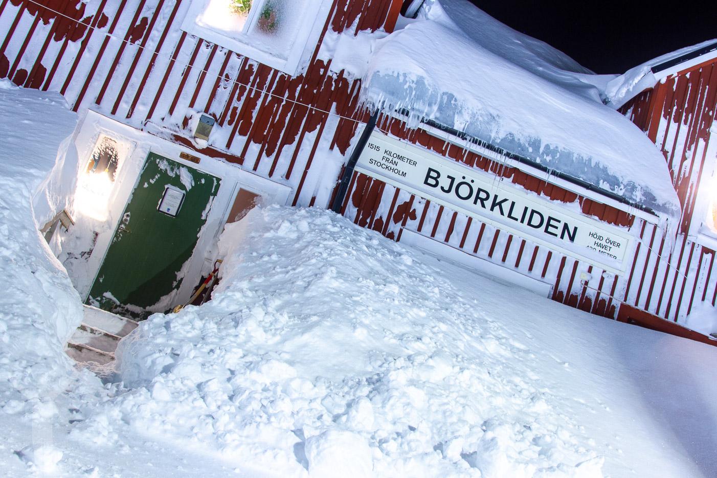 Tågstationen i Björkliden