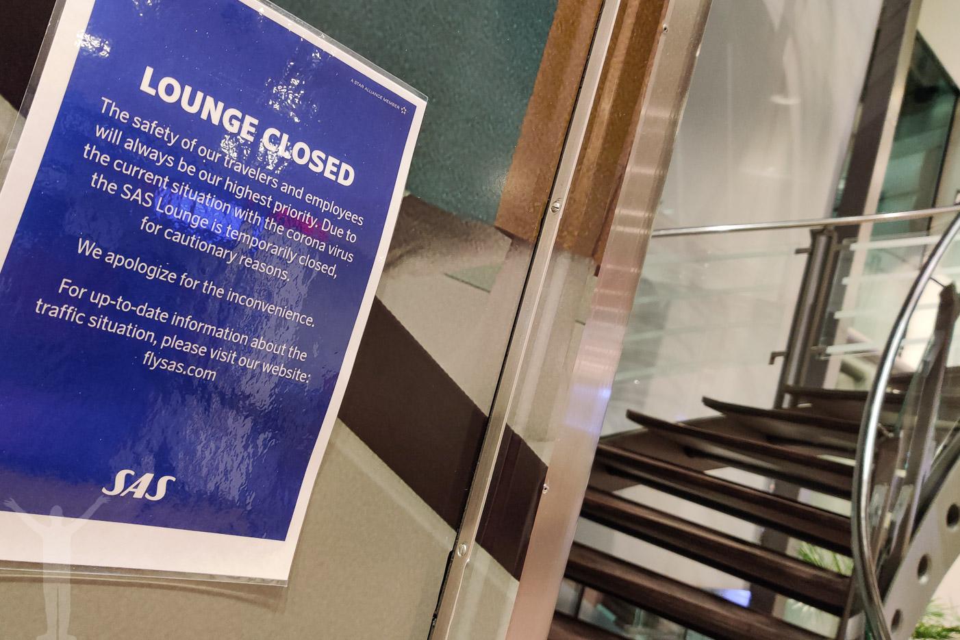 Stängd SAS Lounge på Arlanda