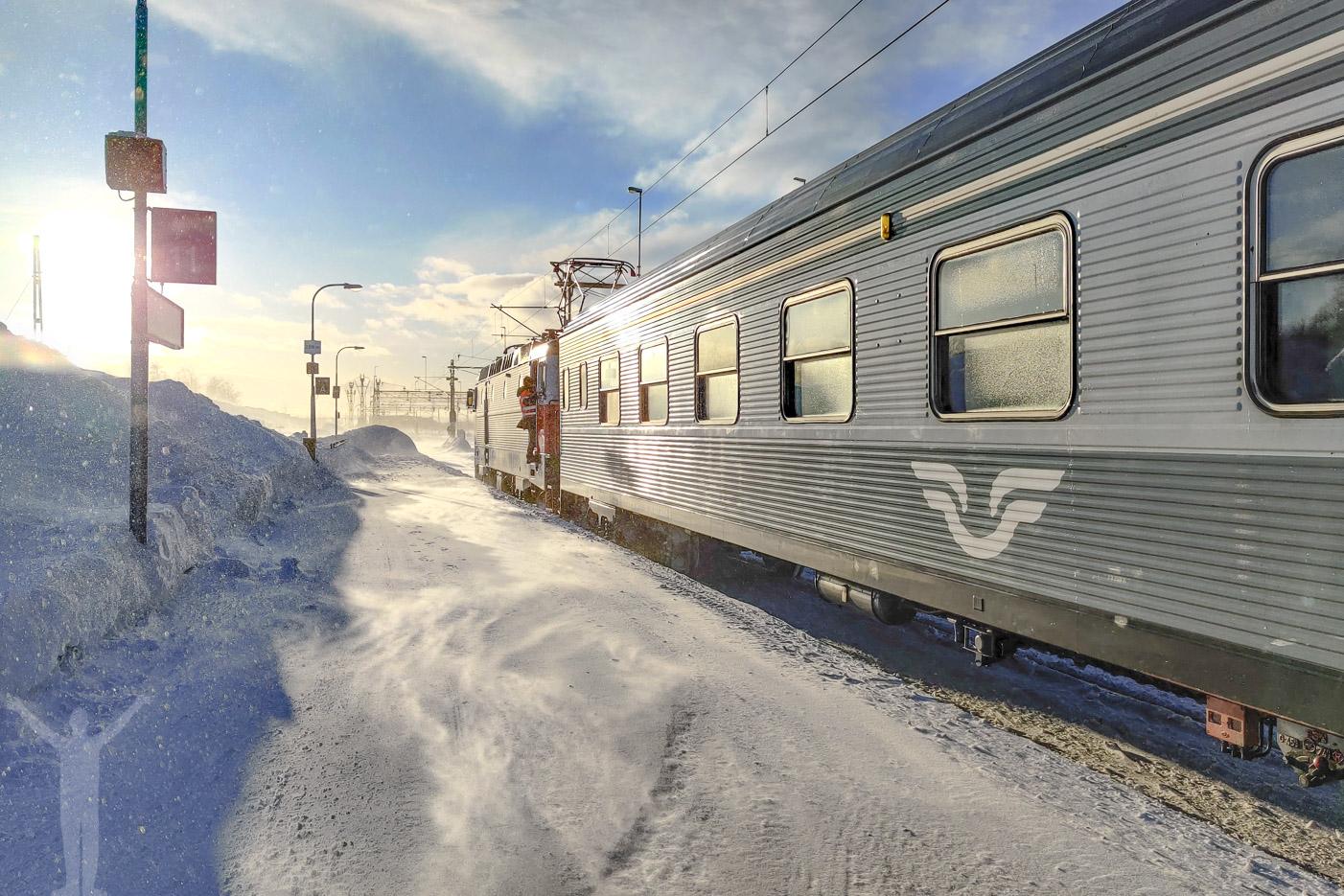 SJ Nattåg i Kiruna