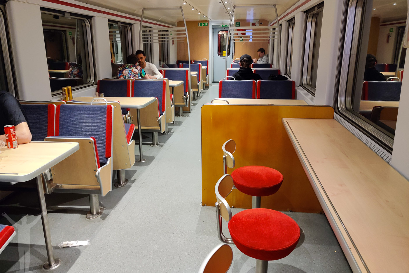 Bistron på nattåget till Narvik