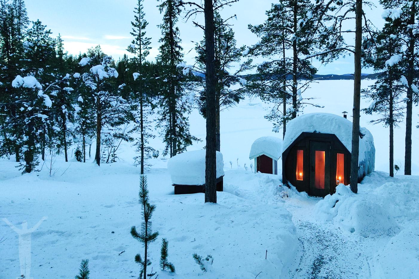 Bastu på Aurora Camp