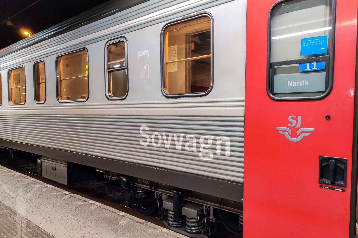 Sovvagn på SJ:s nattåg