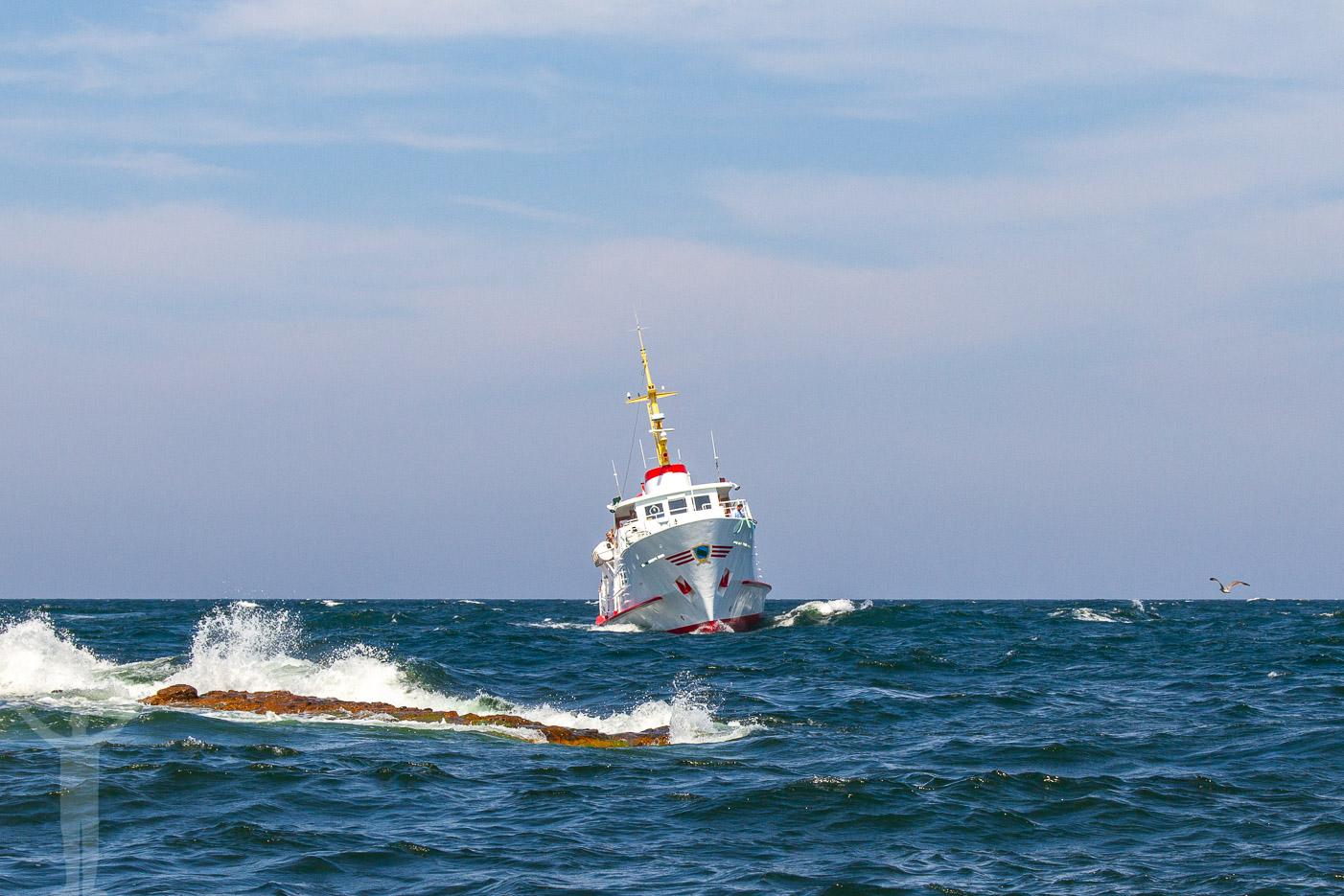 Östersjön blåser upp kring Bornholm