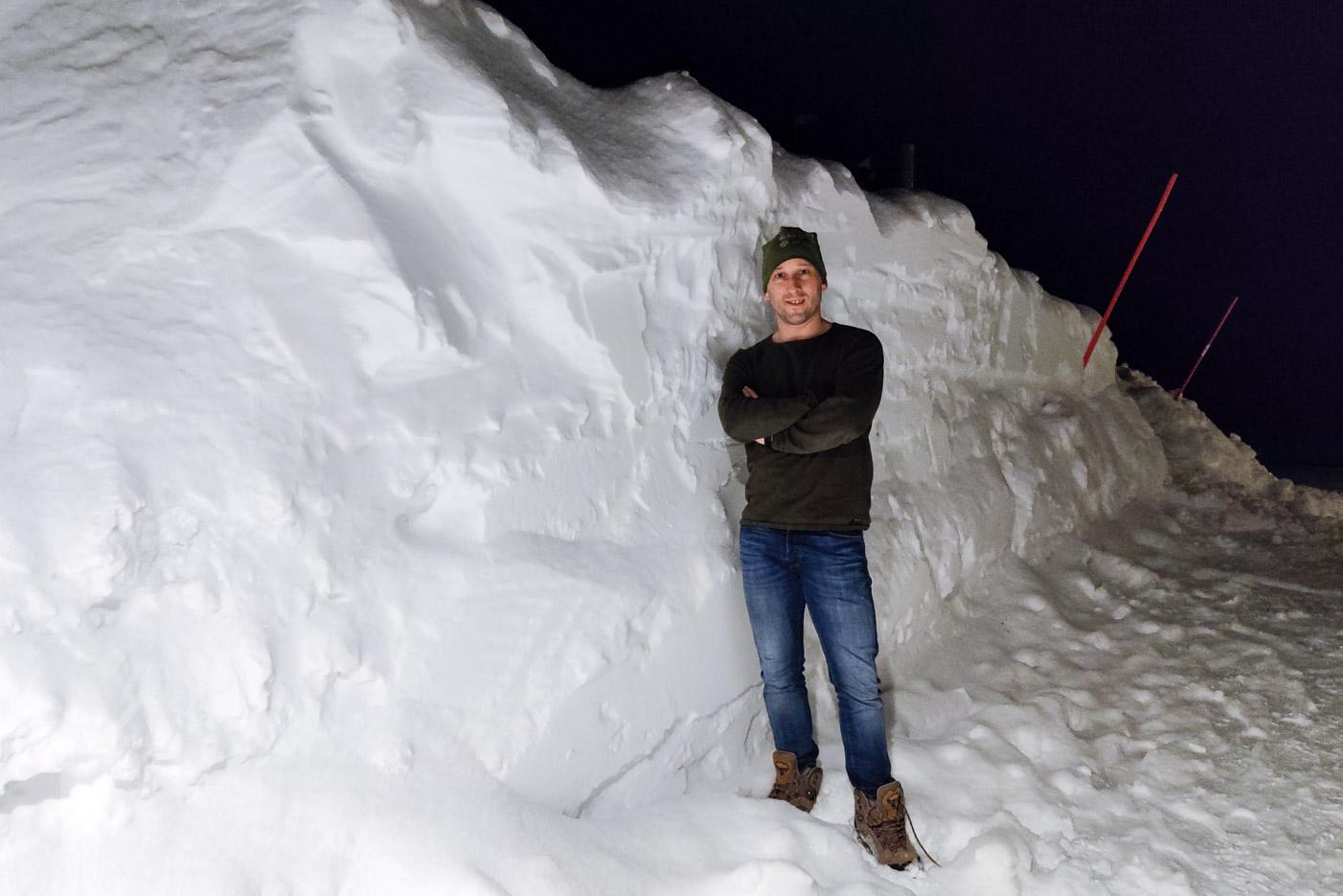 Gott med snö i Björkliden