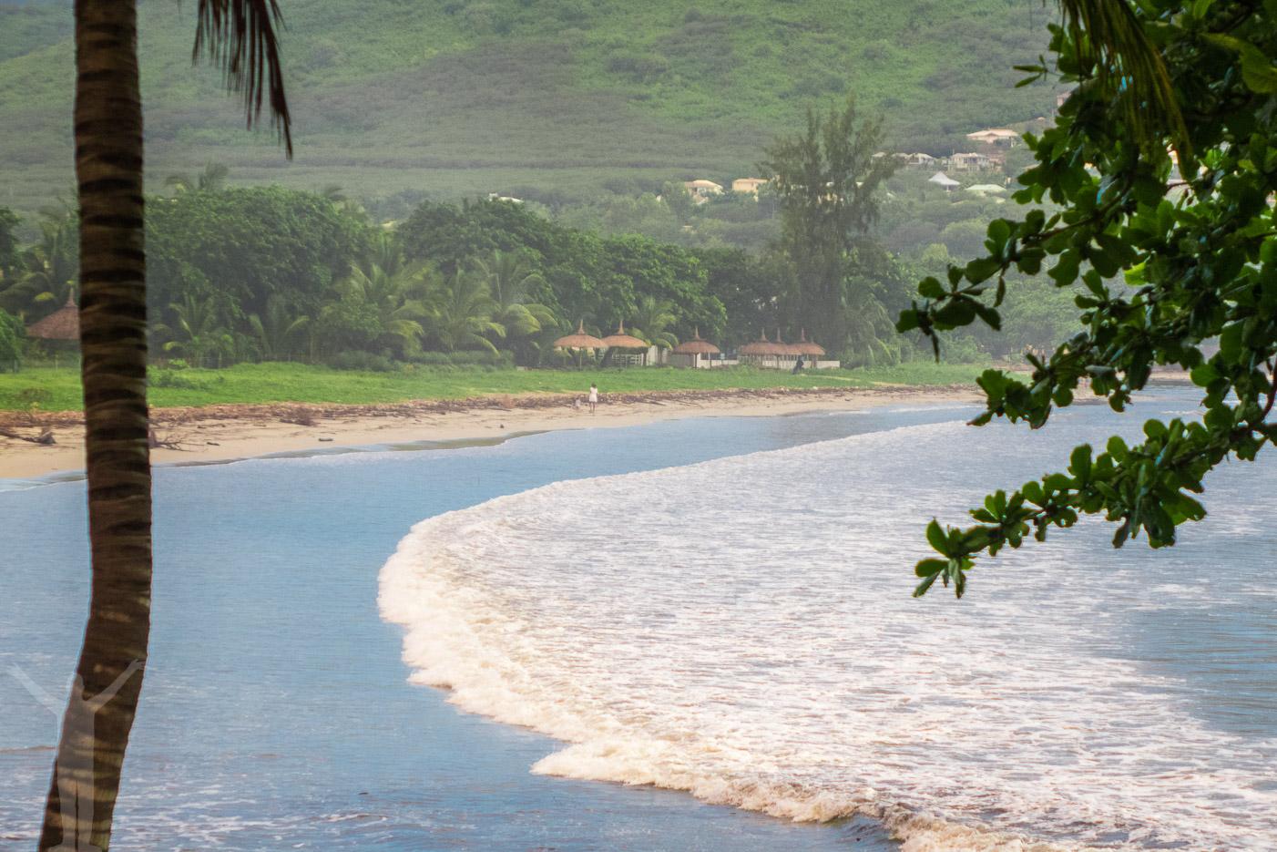 Indiska Oceanen rullar in på Mauritius