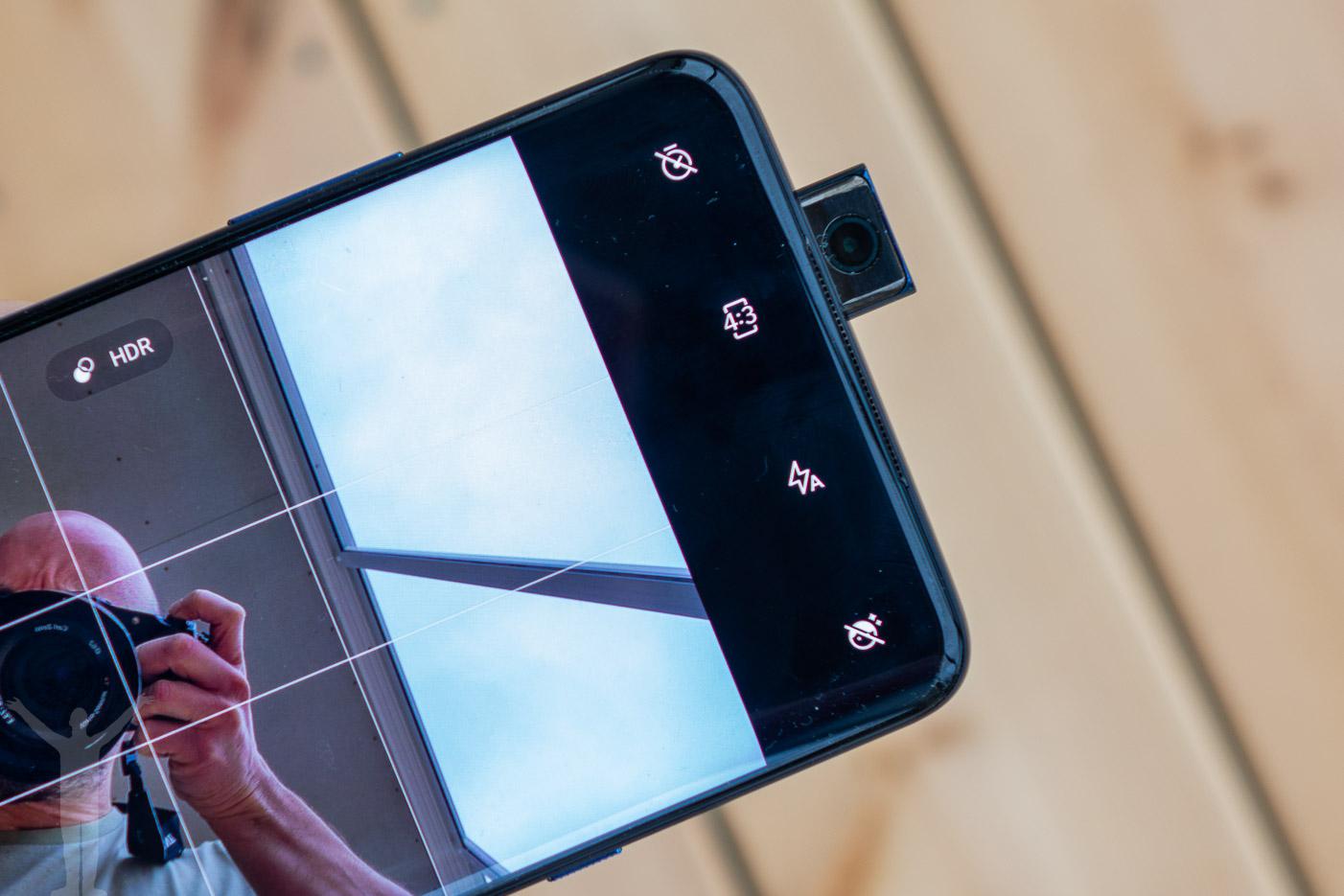 Selfiekameran på OnePlus 7T Pro