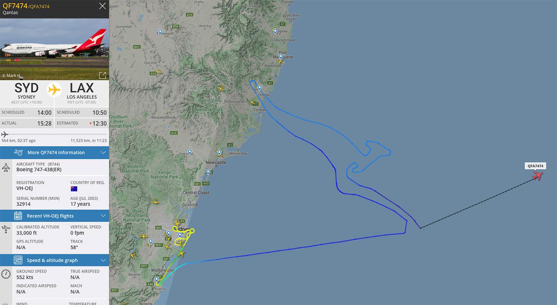 Qantas sista 747-flight - QF7474