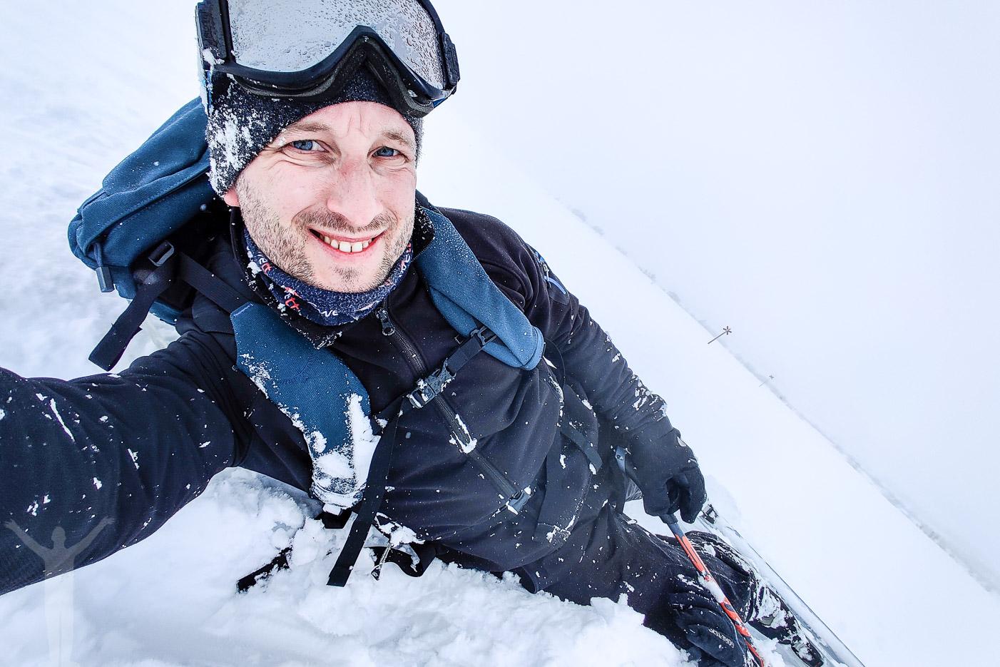 Många fall på skidorna