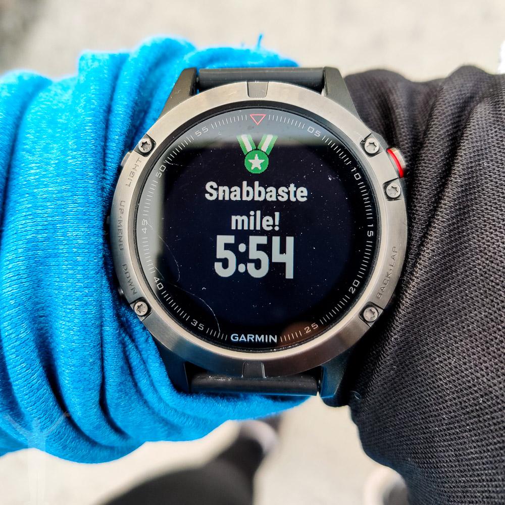 PB på 1 mile