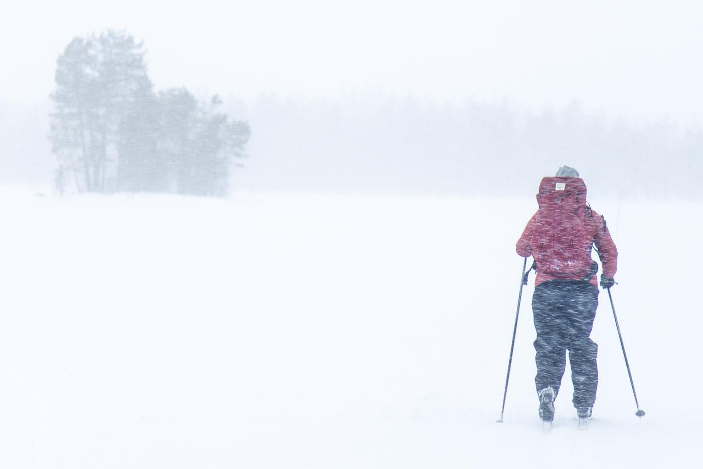 Snöstorm på Svartsjöarna