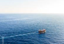 Medelhavet ligger stilla utanför Dubrovnik