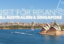 Så mycket kostade resan till Australien och Singapore
