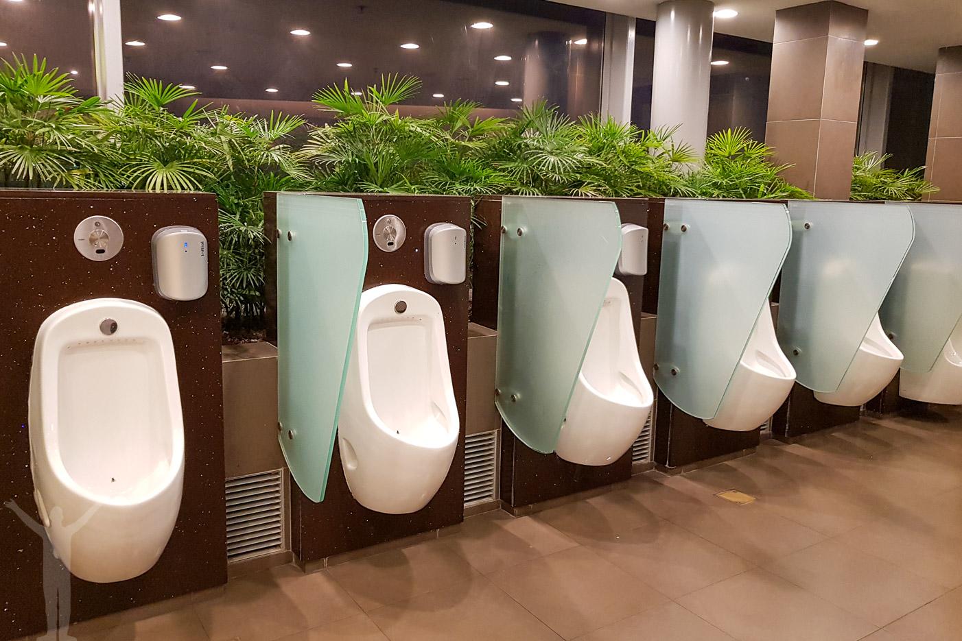 En av toaletterna på Changi