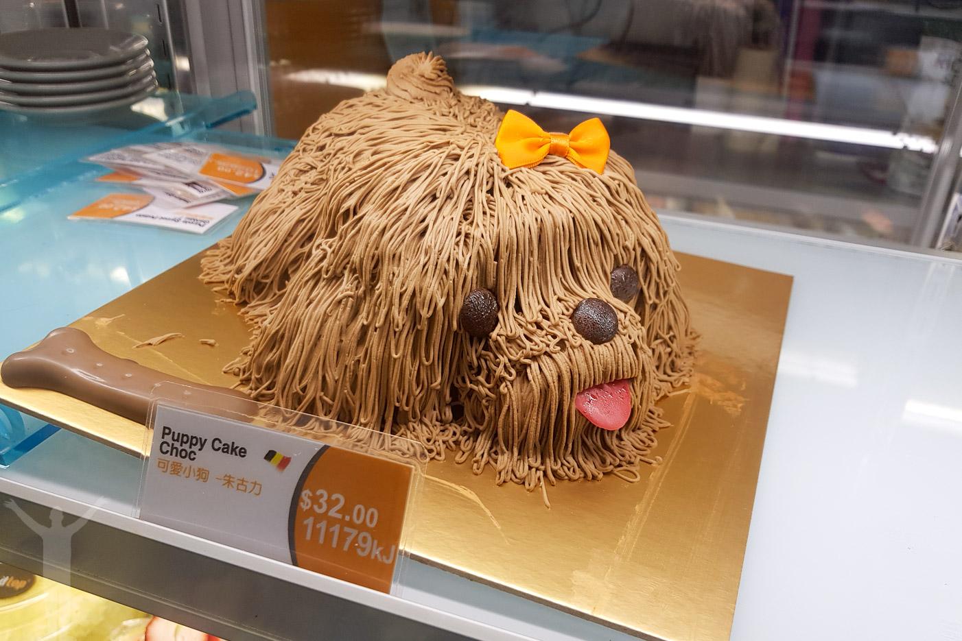 En chokladkakehund i Melbourne